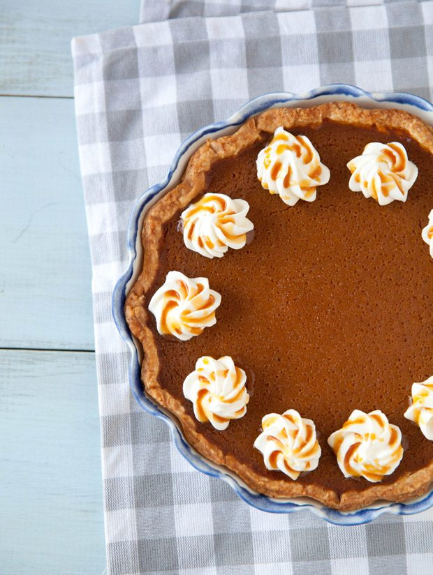 Caramel Spiked Pumpkin Pie