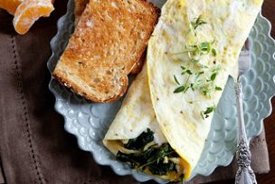 Kale and Ricotta Omelets