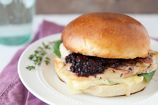 Brie & Blackberry Grilled Chicken Sandwiches