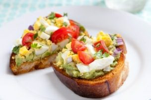 Open-Faced Avocado Sandwich on Chipotle Toast