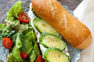 Roasted Zucchini and Ricotta Sandwiches