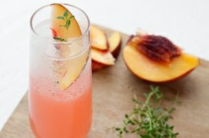 Nectarine Thyme Gin Fizz