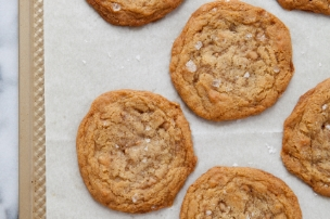 Salted Brown Sugar Toffee Cookies