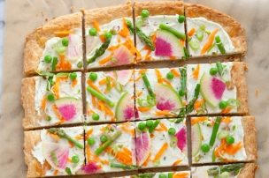 Veggie Tart with Parmesan Herb Cream Cheese