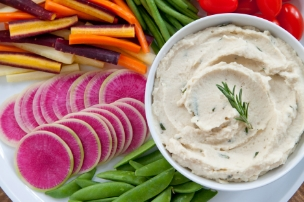 Garlic Rosemary White Bean Dip