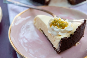 Passion Fruit Mousse Pie
