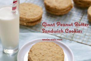 Giant Peanut Butter Sandwich Cookies