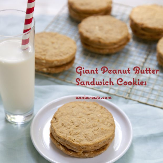 Giant Peanut Butter Sandwich Cookies