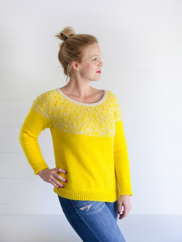 Bobble Yoke Sweater