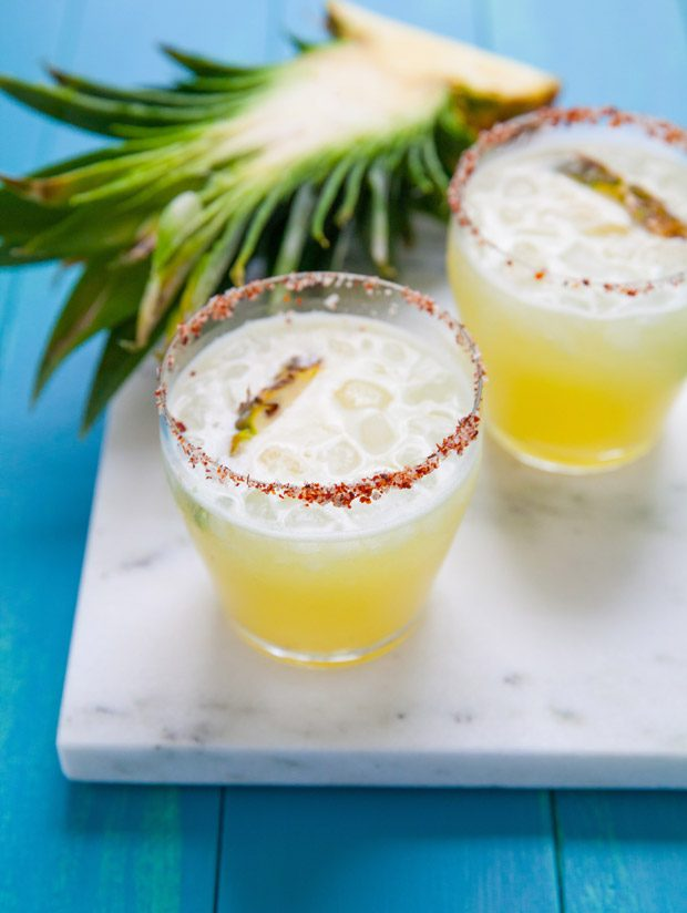 Pineapple Margaritas with Guajillo Salt