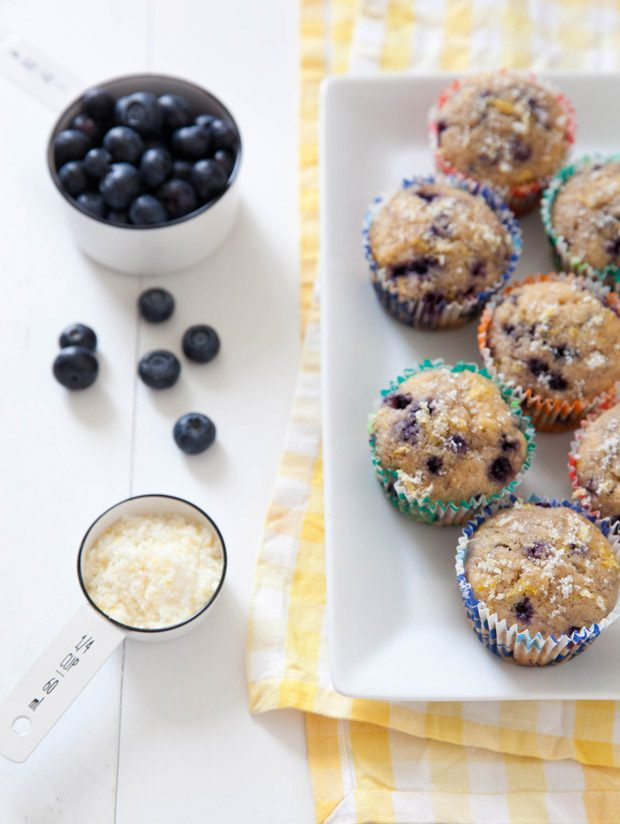 Lightened Up Lemon Blueberry Muffins