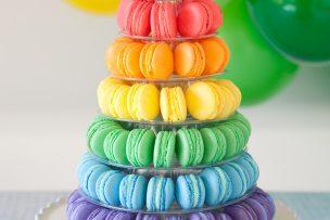 Rainbow Macaron Tower (+ More Macaron Making Tips)