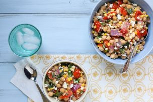 Roasted Vegetable Chickpea Salad