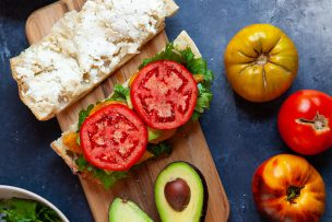 Simple Summer Veggie Sandwich