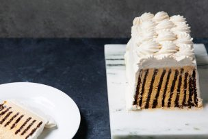 Salted Caramel Dark Chocolate Icebox Cake