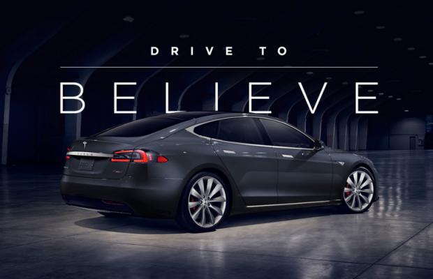 Tesla Drive to Believe campaign