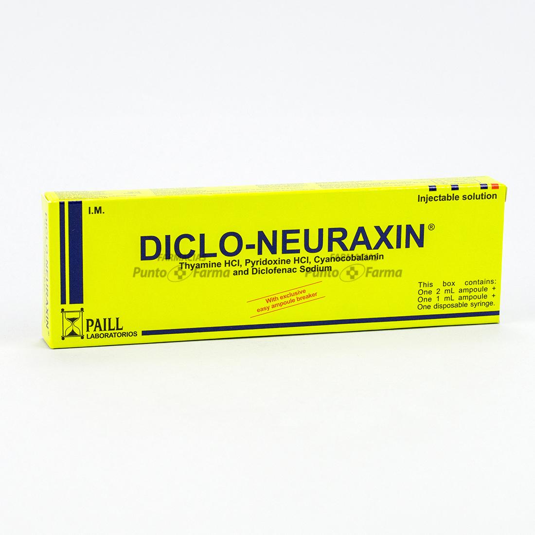 Diclo Neuraxin Caja X 1 Ampolla Inyectada