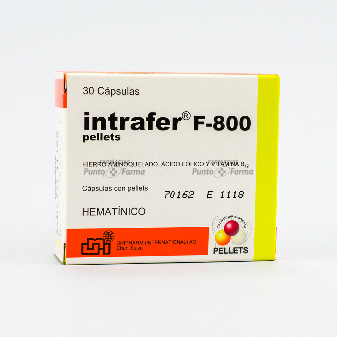 Intrafer F-800 Cja  X 30 Cap