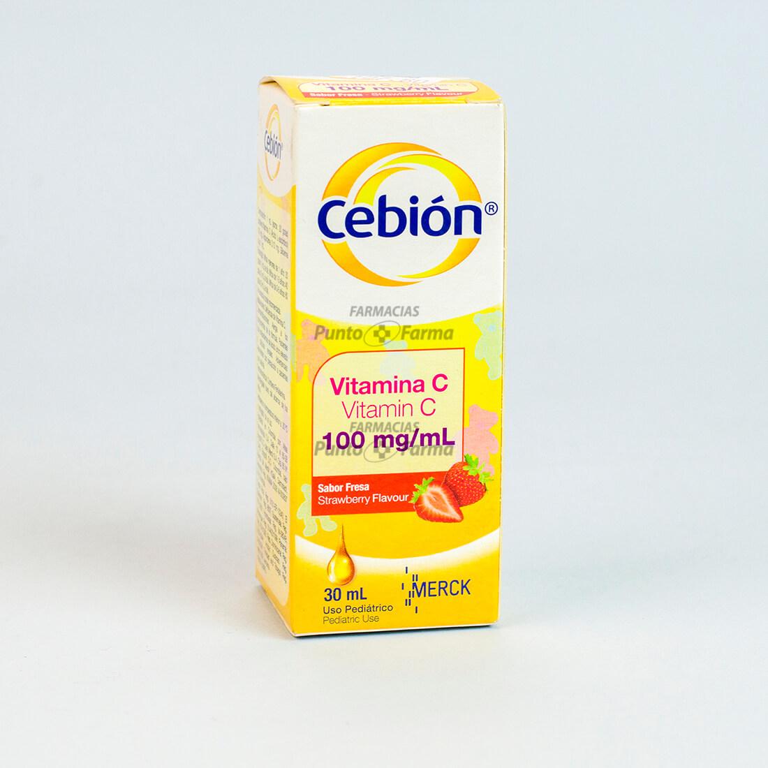 Cebion Fresa Gota 100Mgx30Ml