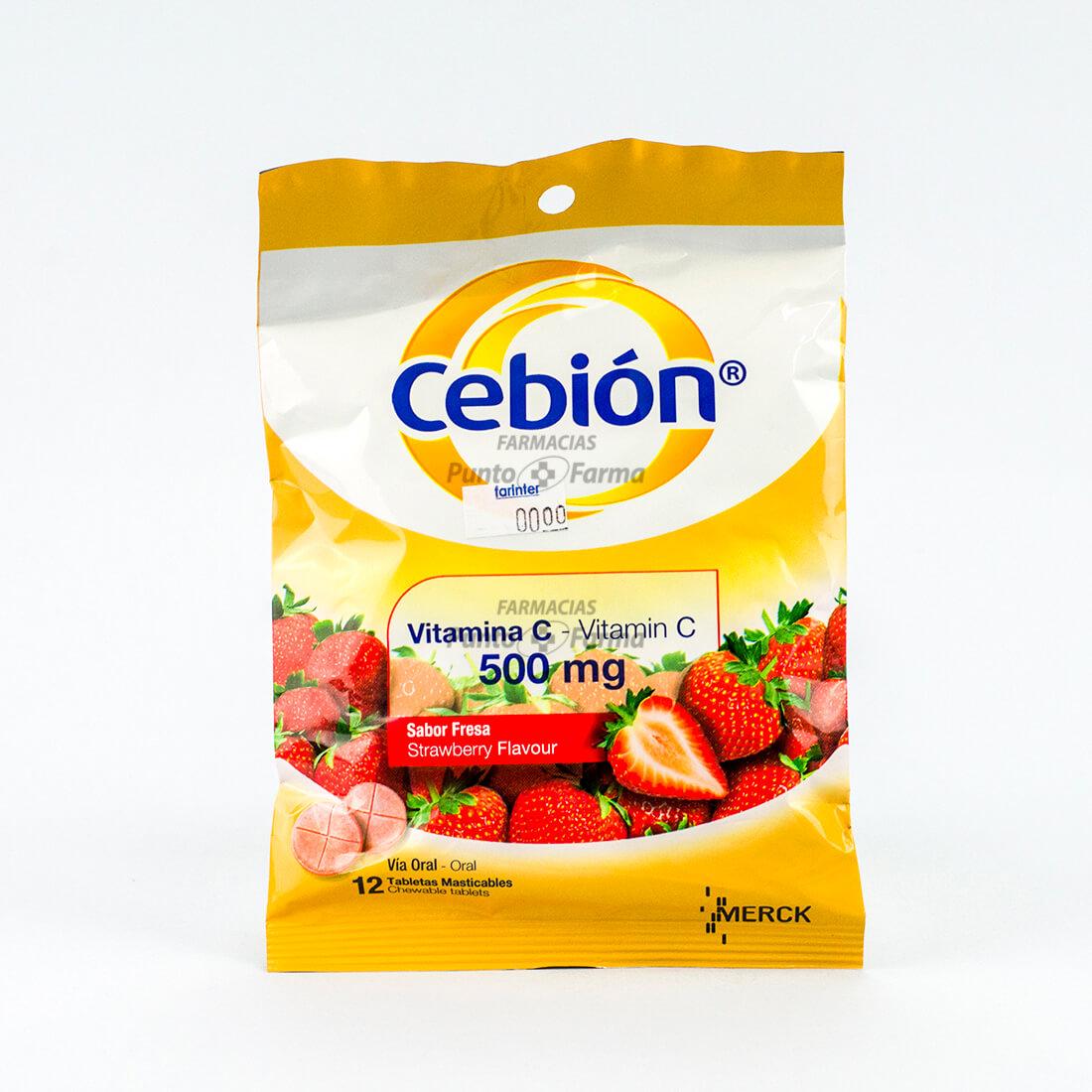 CEBION FRESA 500mgx12 TAB MAS