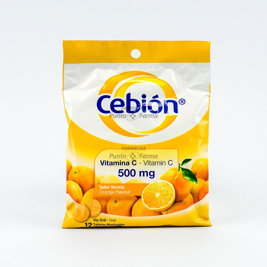 CEBION NARANJA 500 mg x12 TAB