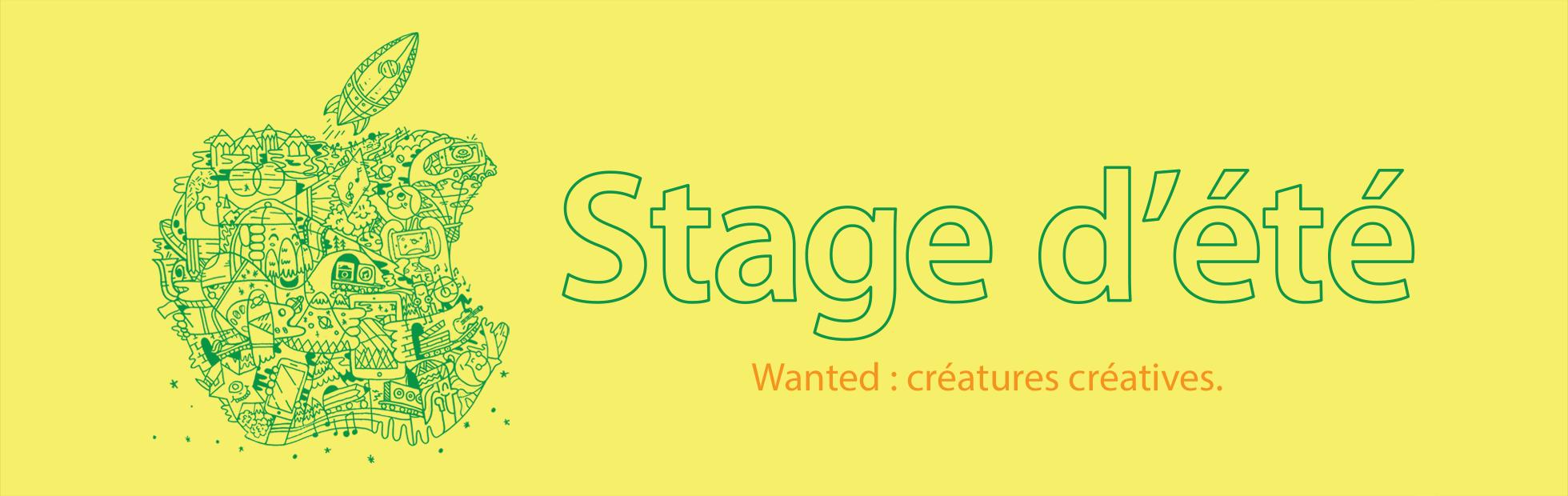  Stage d'été. Wanted : créatures créatives.