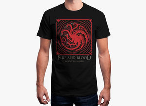 Game of thrones t shirt   fire and blood