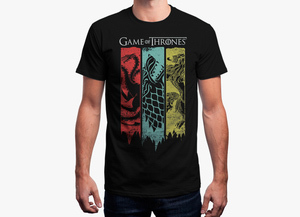 Game of thrones t shirt   3 houses