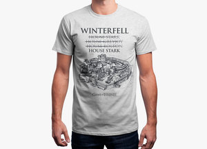 Game of thrones t shirt   winterfell