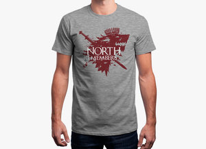 Game of thrones t shirt   north remembers
