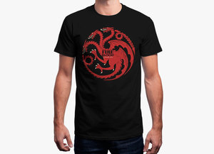Game of thrones t shirt   targaryen fire