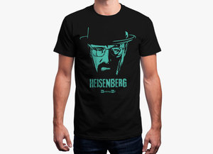 Breaking bad t shirt   heisenberg noir