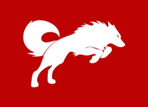 Redwolf classic white logo red tee artwork india