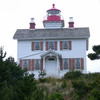 The historic lighthouse at Yaquina Bay State Park in Newport.