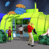 The Submarine Sea Lab allows children to explore the ocean depths through interactive displays and the power of imagination.