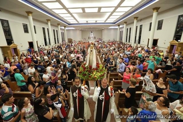 Em Lençóis Paulista – SP, encerramento das Missões para Cristo com Maria