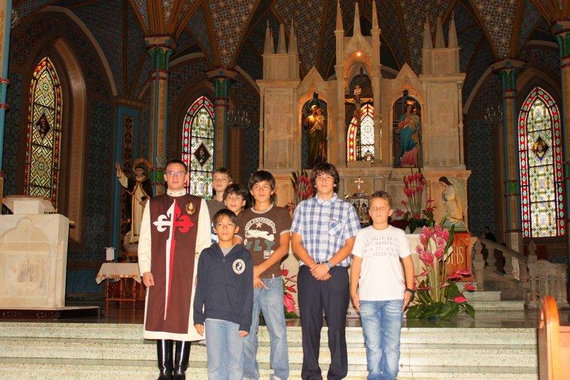 Visita de un grupo de Jóvenes desde El Salvador