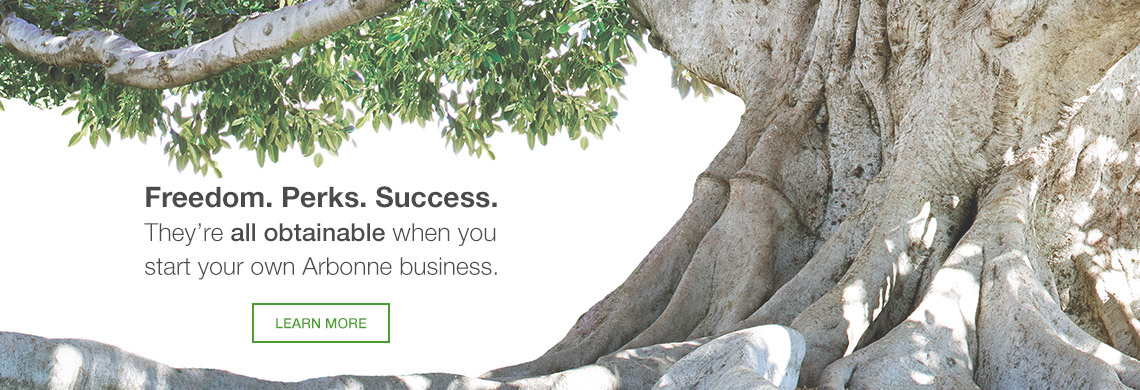 Freedom. Perks. Success. They're all obtainable when you strat your own Arbonne business. Learn More