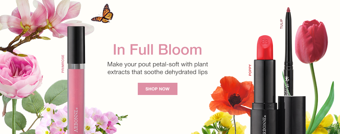 In Full Bloom. Make your pout petal-soft with plant extracts that soothe dehydrated lips. Shop Now