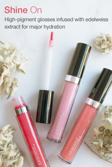 Shine On. High-pigment glosses infused with edelweiss extract for major hydration.
