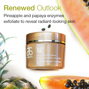 Renewed Outlook. Pineapple and papaya enzymes exfoliate to reveal radiant-looking skin.