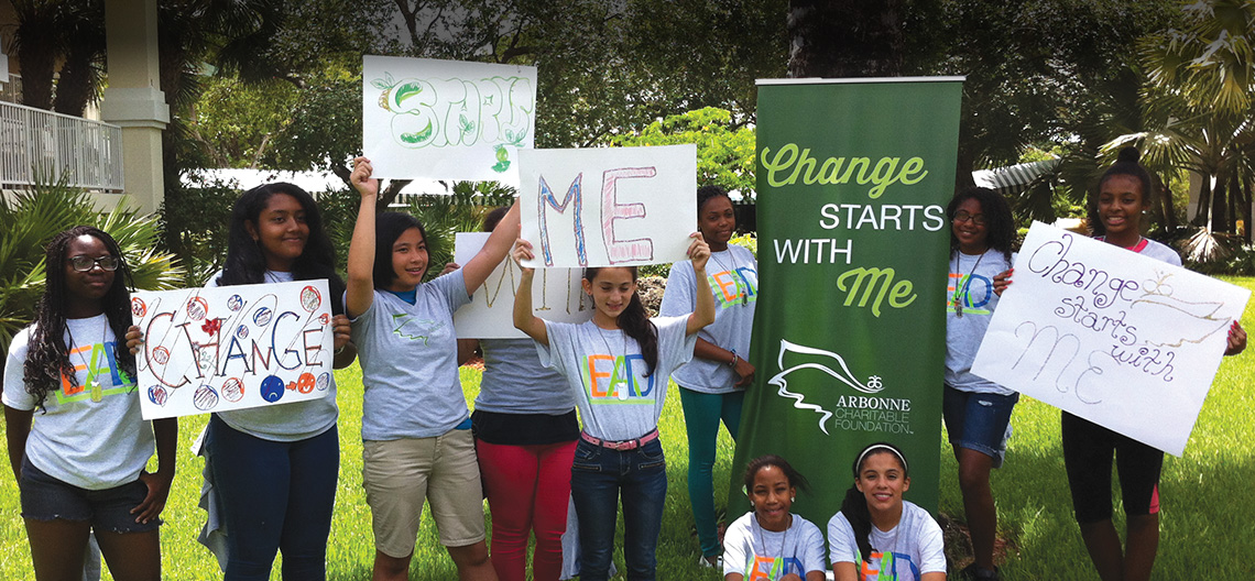 teens and kids helped by the Arbonne Charitable Foundation
