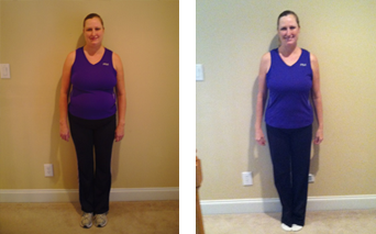 Evolution Challenge Before and After pictures - Jill Urwick