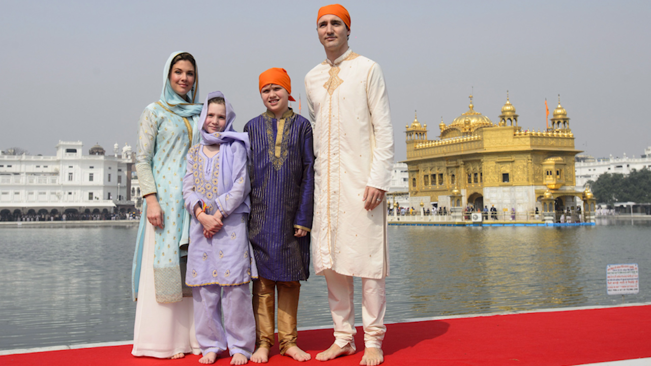 trudeau family visits india's golden temple, helps make roti - the