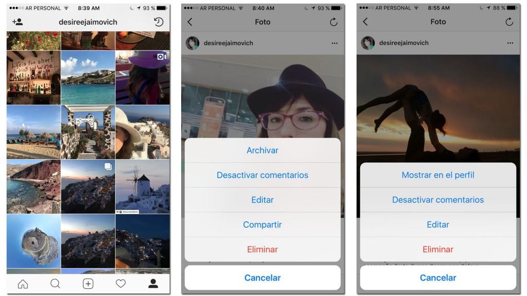 Instagram para arrepentidos: se estrenó una función para ocultar contenido publicado