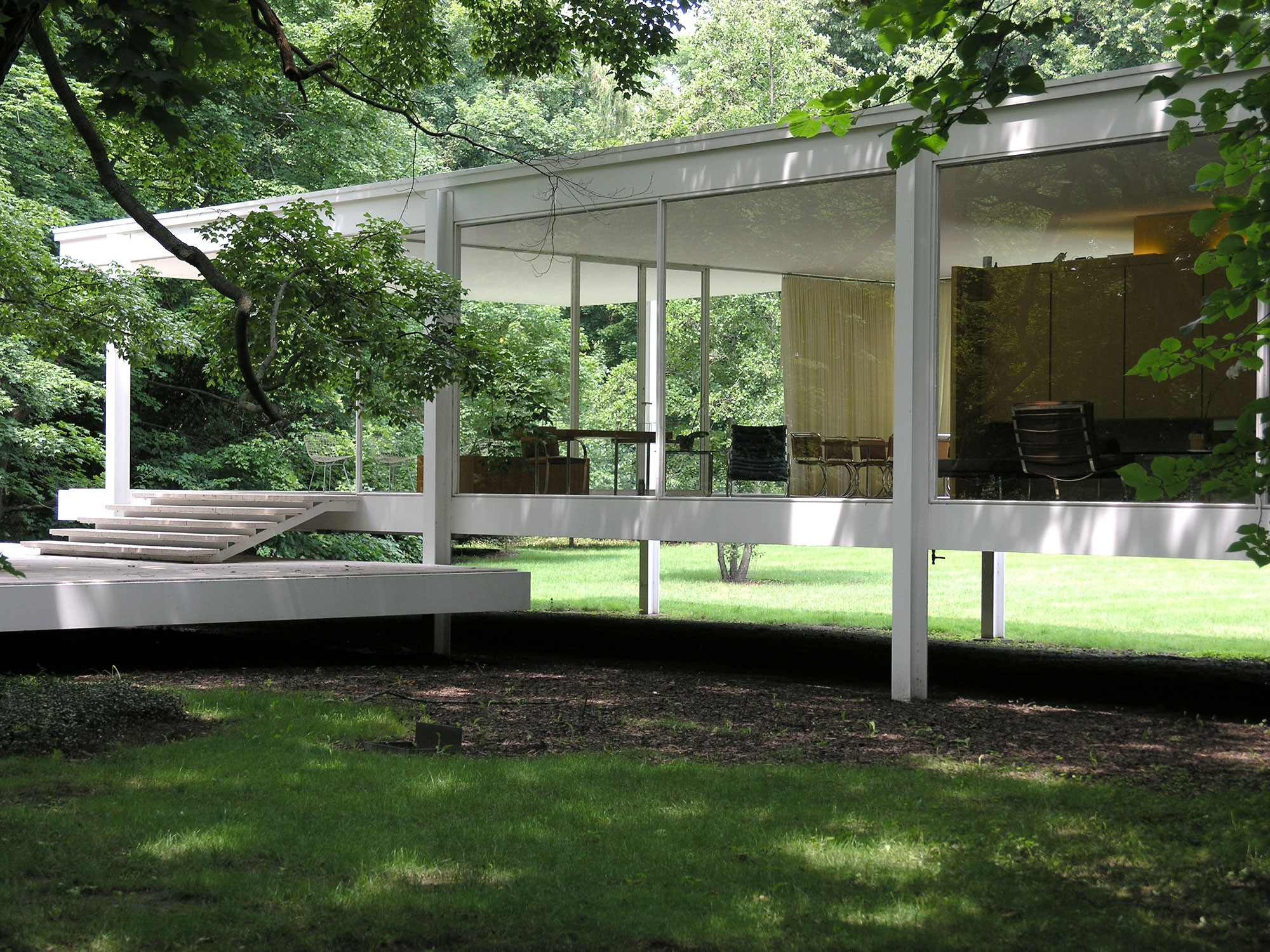 farnsworth house plus tours chicago architecture foundation caf. Black Bedroom Furniture Sets. Home Design Ideas