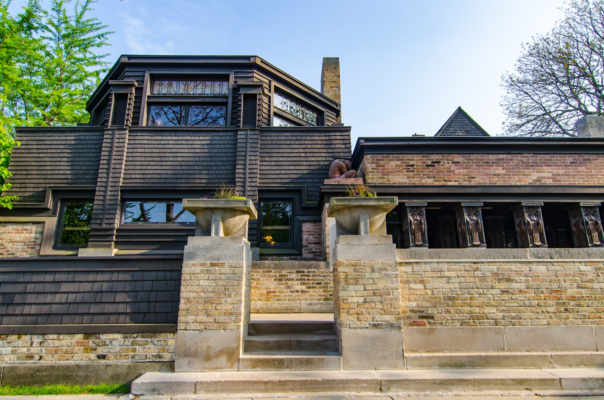 Frank lloyd wright home and studio sites open house for Frank lloyd wright list of houses