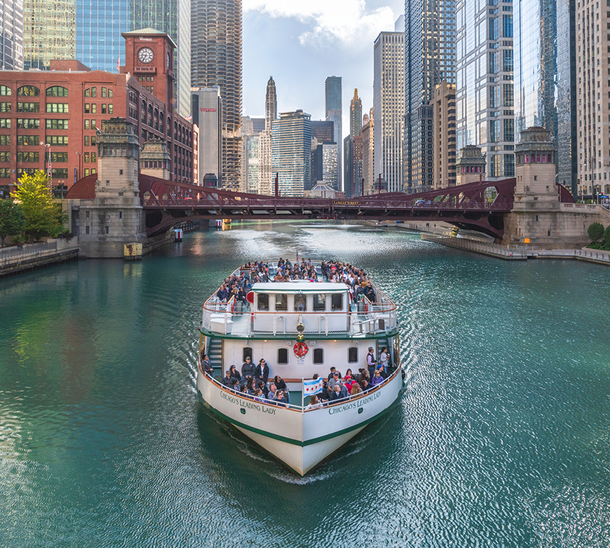 The Chicago Architecture Foundation Center River Cruise aboard Chicago's First Lady
