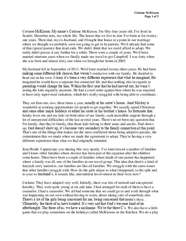 Corinne's transcript