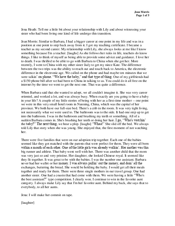 Jean's transcript